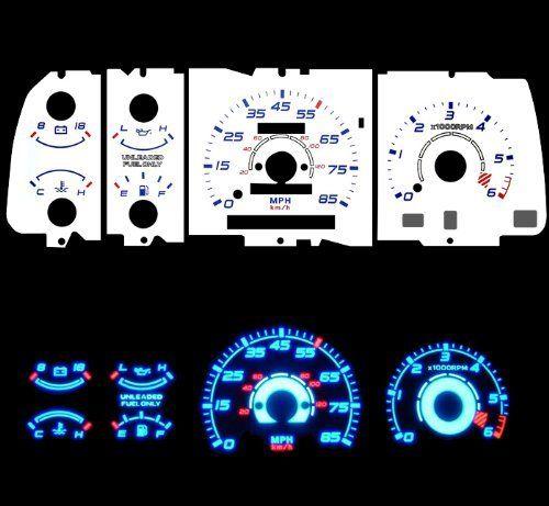 91 94 Mazda Navajo B Series Mazda Navajo Mazda B2200 B2300 B3000 B4000 Pick Up With Tach Rpm Blue Indiglo Glow White Gaug Mazda Performance Parts Cockpit