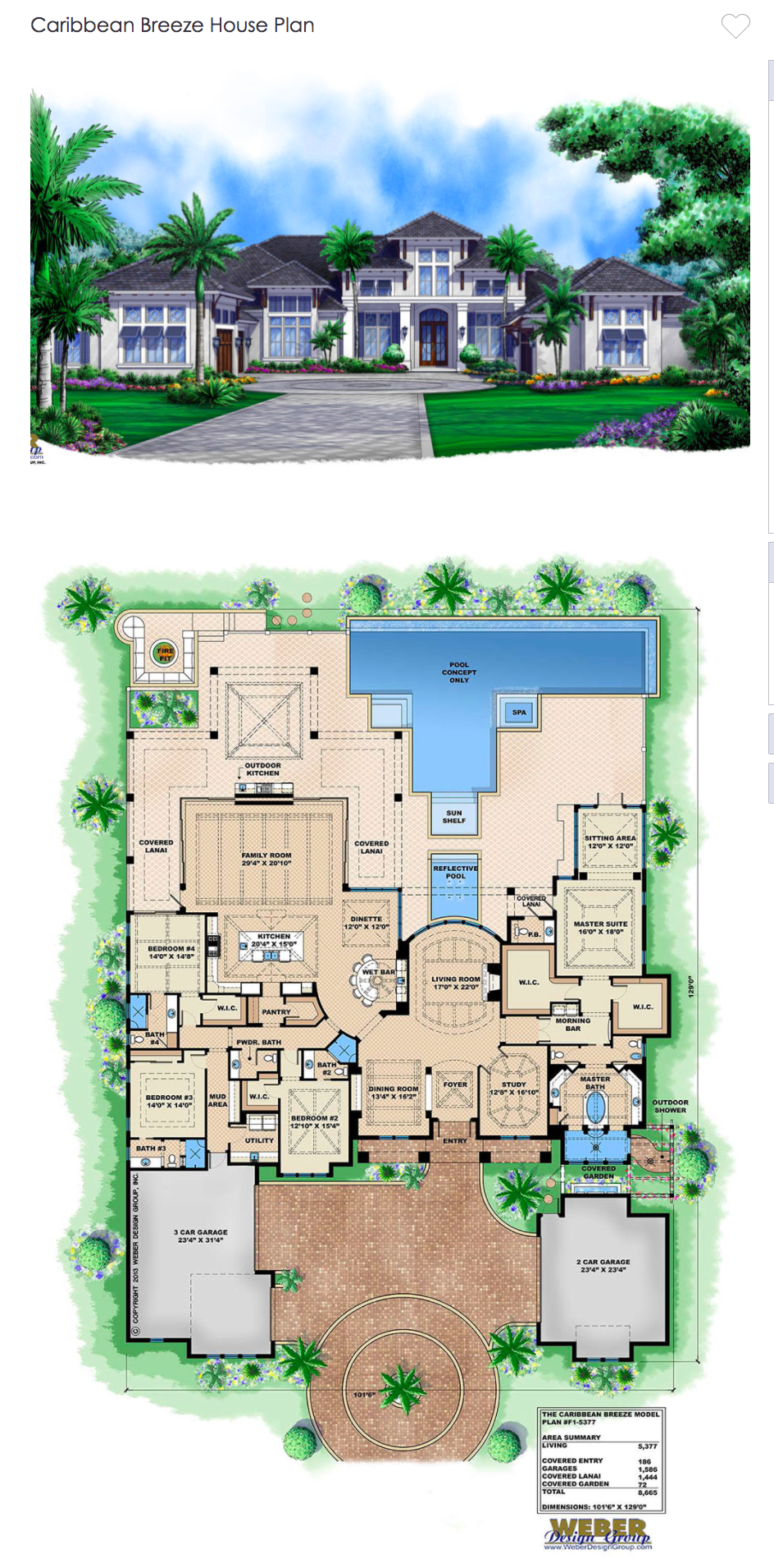 Caribbean House Plan 1 Story Contemporary Beach Home Floor Plan House Floor Plans Caribbean Homes Luxury House Plans