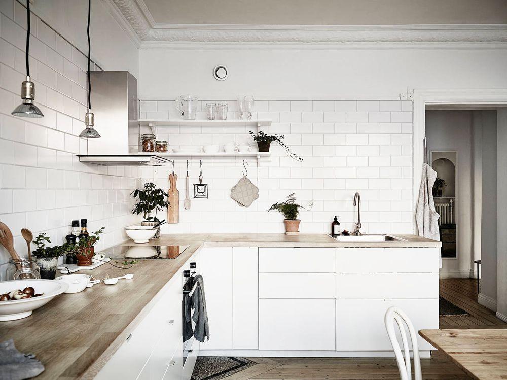cozinha decoração escandinava