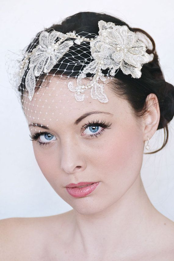 My Fabulous Fiona bridal birdcage veil   by SoBridelicious on Etsy, $110.00