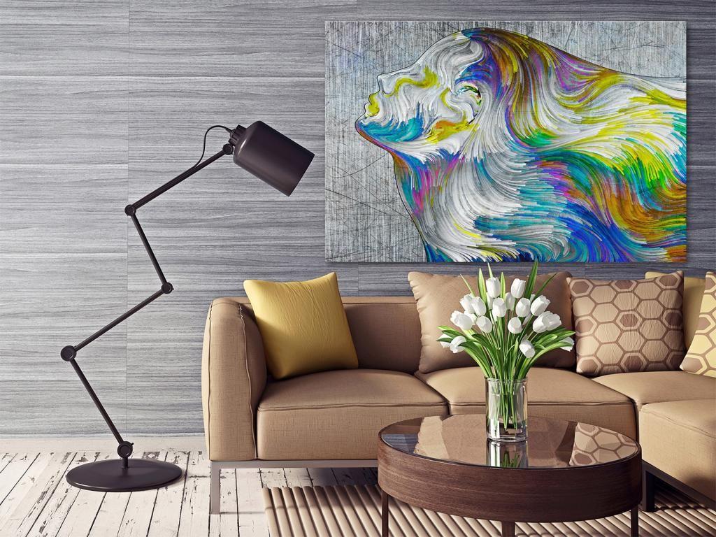 21301 Obraz Na Plotnie Abstrakcja Twarz 120x80 Autumn Interior Interior Blogger Interior Design Inspiration