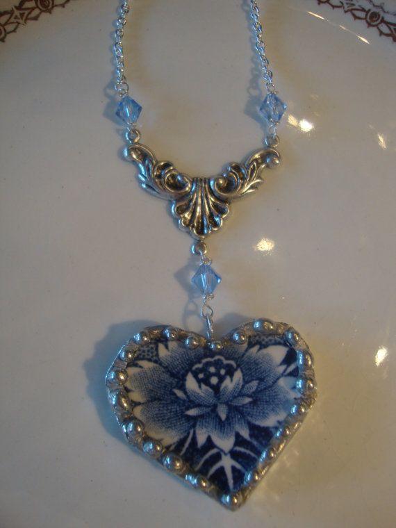 Vintage Broken China Jewelry by BeautifulThingsga on Etsy, $40.00