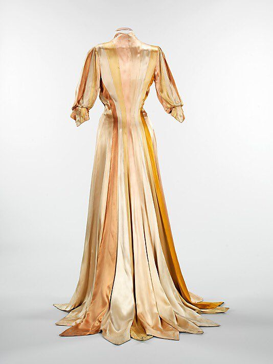"""This dressing gown epitomizes Charles James' out of this world draping skills, made completely out of 6.5"""" ribbons"""