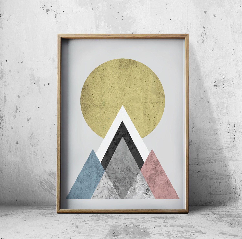 Wall At Prints - Posters Geometric Wall Art Prints - Abstract Art ...