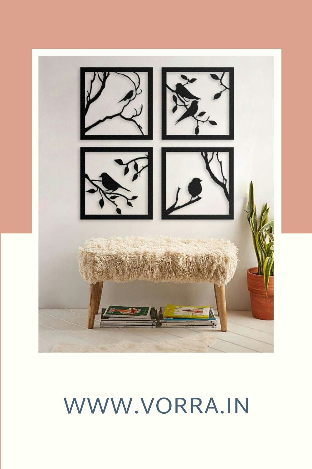 Beautifully handcrafted chirping birds metal wall art for your favourite space.  Get yours customised now! WWW.VORRA.IN  #metalart #metal #localart #artisan #vorraindia #vorra #decor #rakhigiftsforsister #birdslovers #churpingbirds #friendship #metalwork #handcrafted #homedecor #diyhomedecor #homeandlifestyle