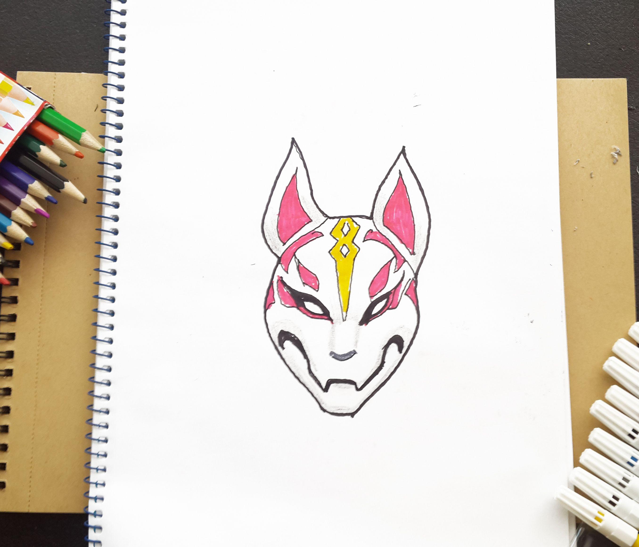 Drift Fortnite How To Draw Drift S Mask From Fortnite Battle Royal