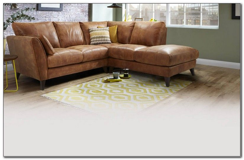 Light Brown Leather Corner Sofa