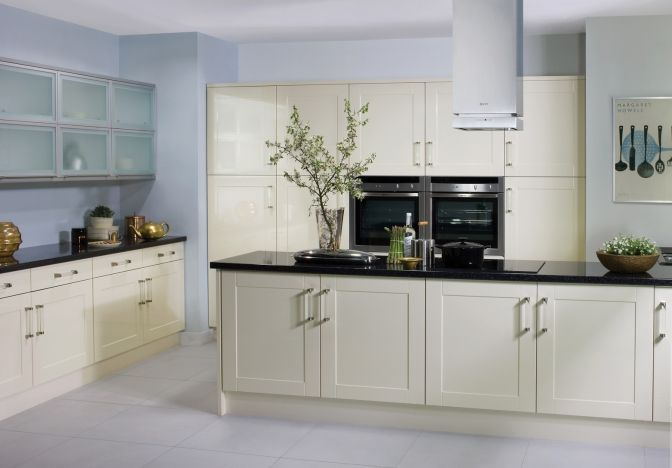 Best Cream Gloss Shaker Kitchen Cabinets Pinterest Shaker 400 x 300