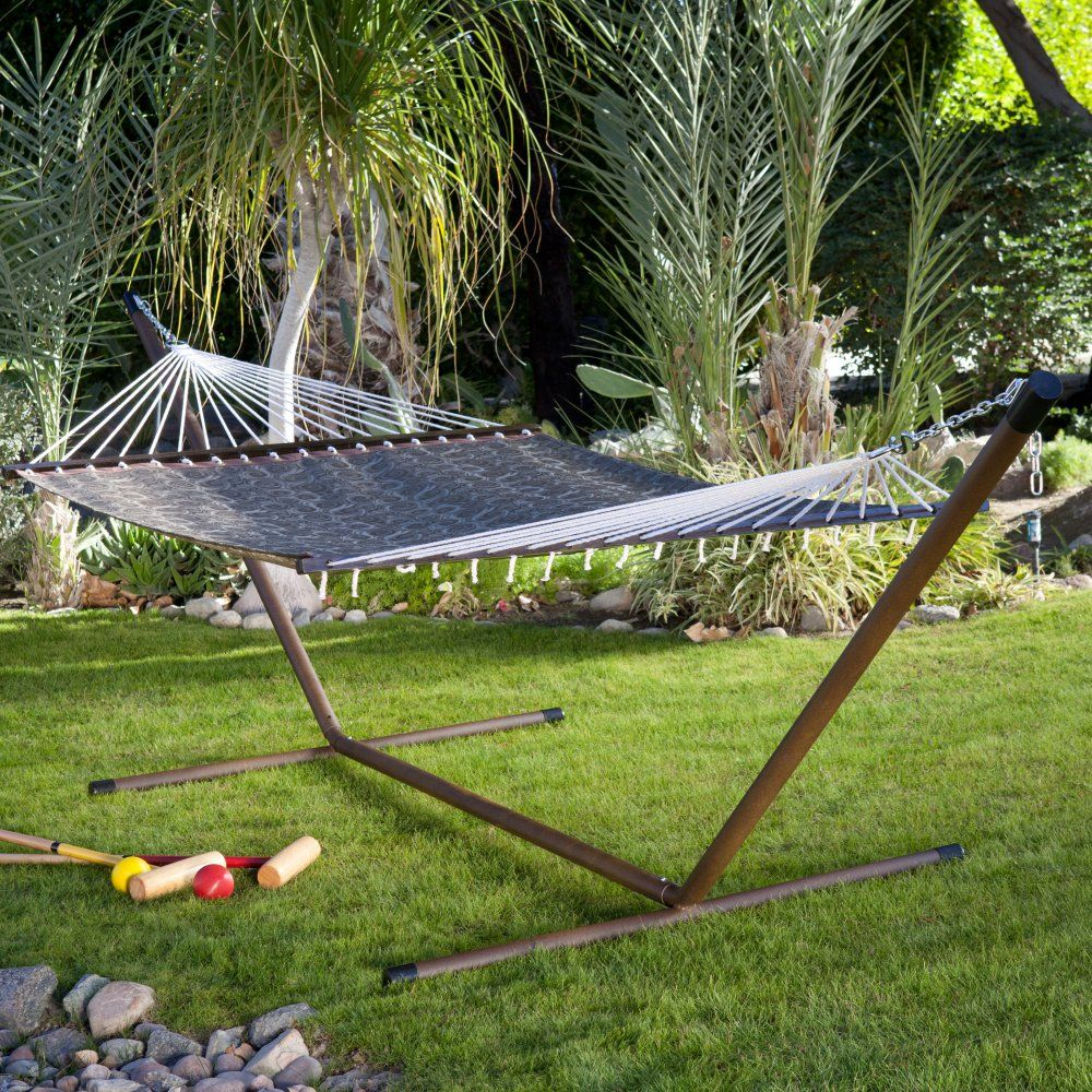 island bay 15 ft free standing hammock stand for spreader bar