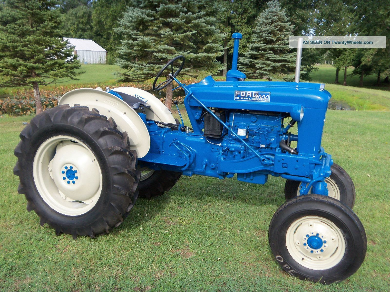 Restored Antique Tractors : Ford offset tractor diesel restored antique