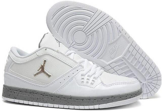 ae8fff830cae9 2015 New Air Jordan 1 Flight Low White Grey Mens Shoes Nike AJ Sneakers