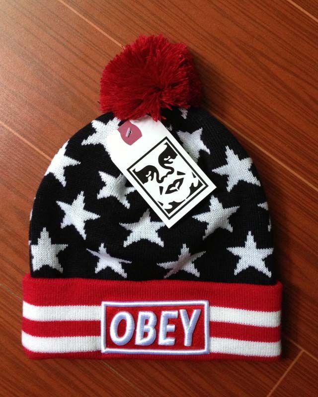 f4fa3f5126360 Wholesale OBEY Beanie Hats Women Gray   Cheap Hats Wholesale Gorros De  Lana