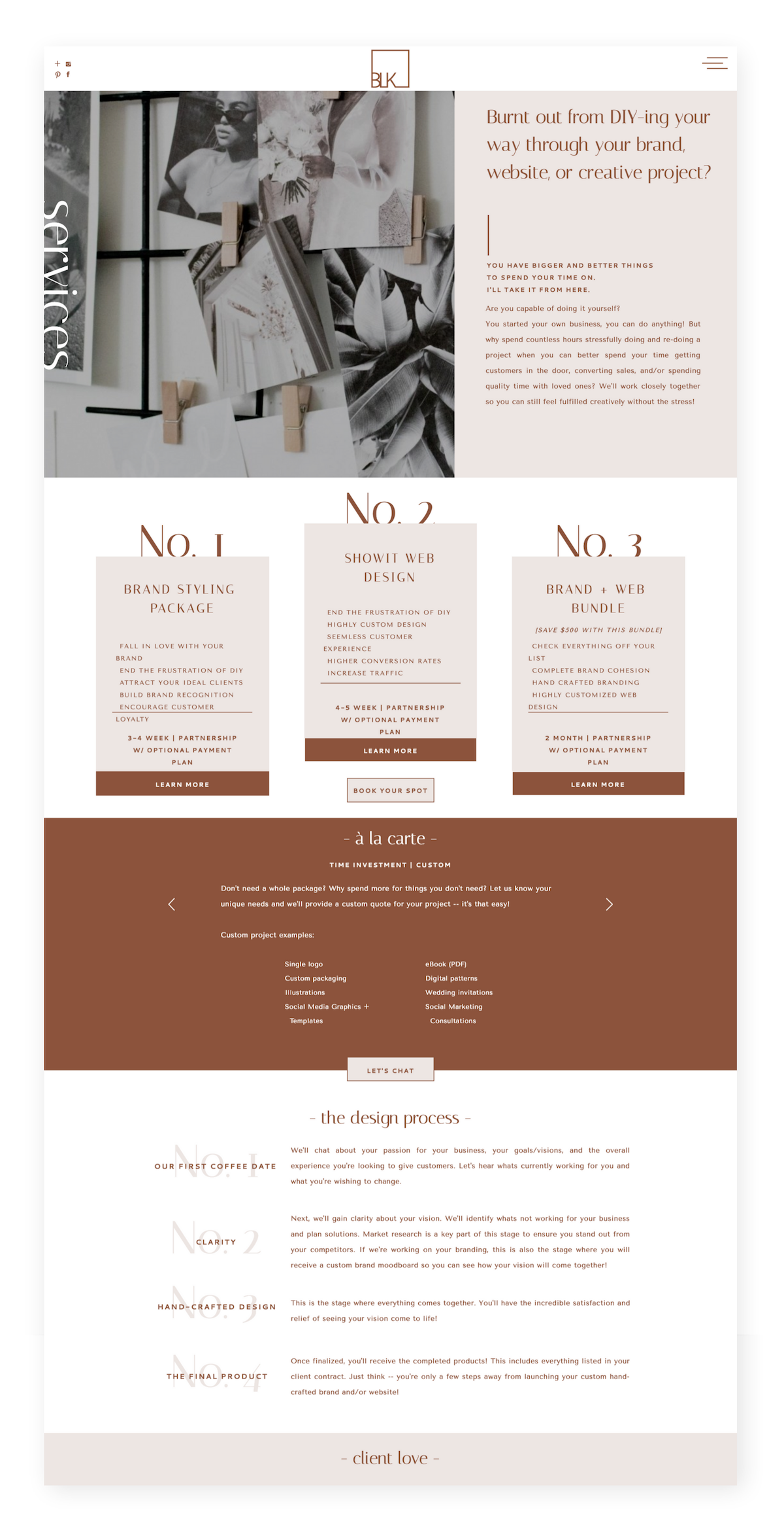 A Modern Branding And Web Design Boutique Template Web Design Web Design Tips Web Design Trends