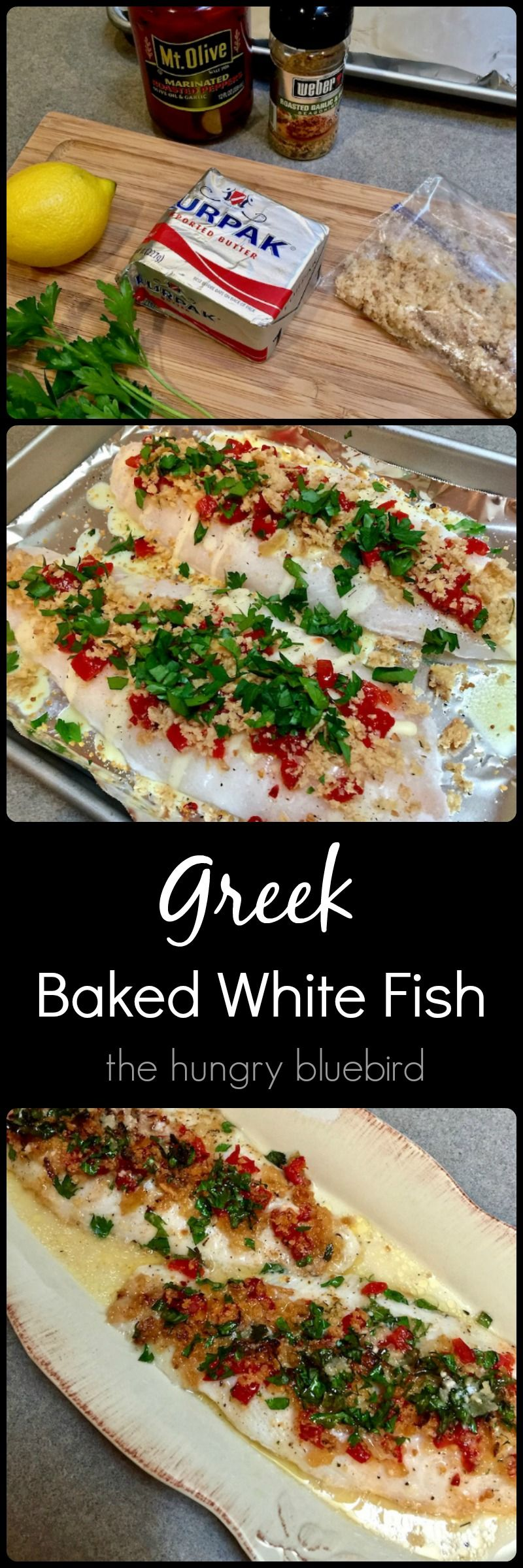 Greek Baked White Fish Recipe Seafood Recipes Fish