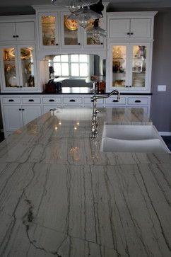 White Macaubas Granite Kitchen Countertops White