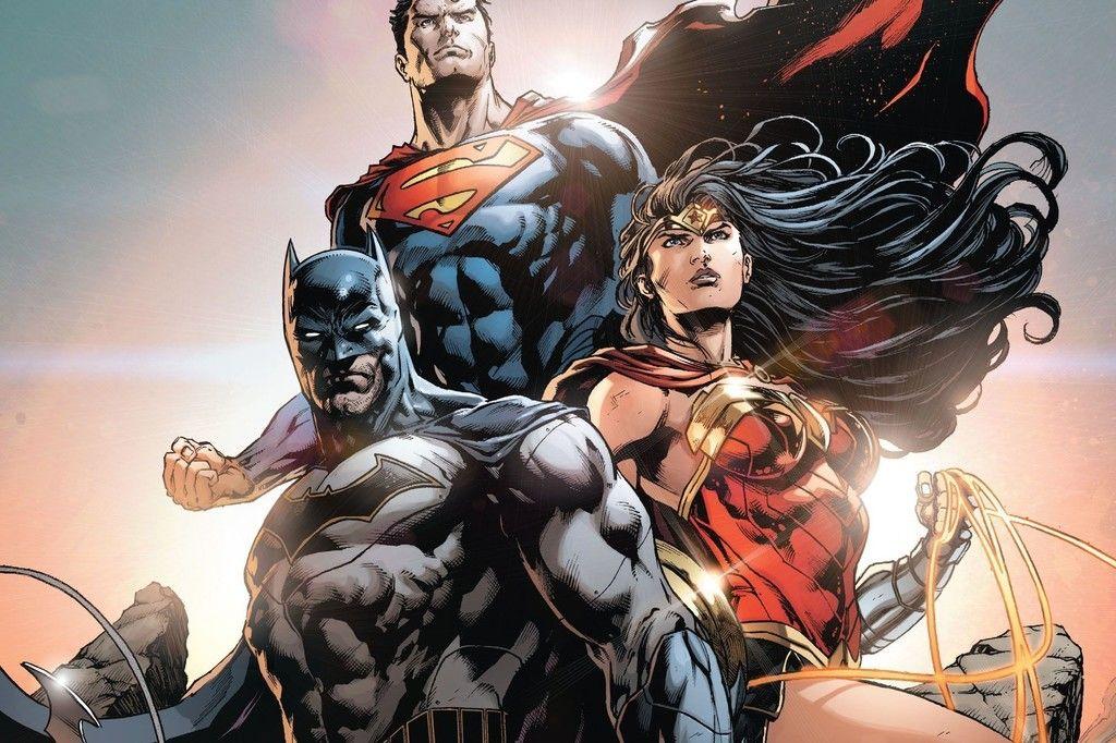 Batman, superman, wonder woman, superhero wallpaper