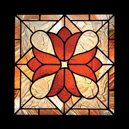 Victorian stained glass pattern designs suitable for beginners. Many attractive, well-designed basic stained glass patterns for all skill levels.