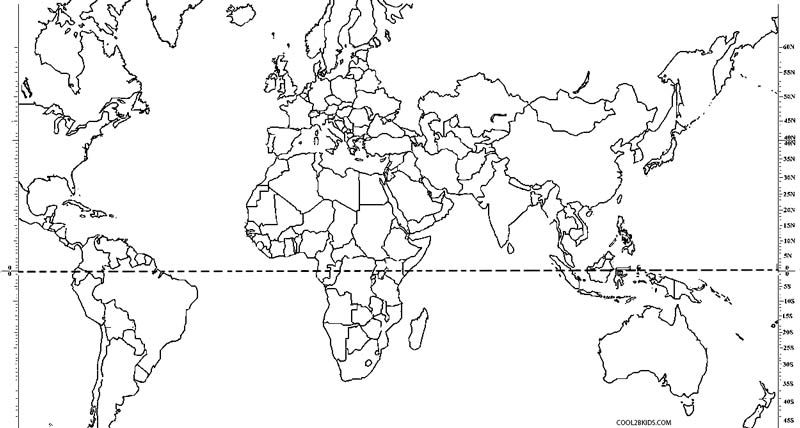 Printable world map coloring page for kids cool2bkids i want a blank world map laminated next to the filled in map poster with dry erase markers so students can practice writing country names gumiabroncs Gallery