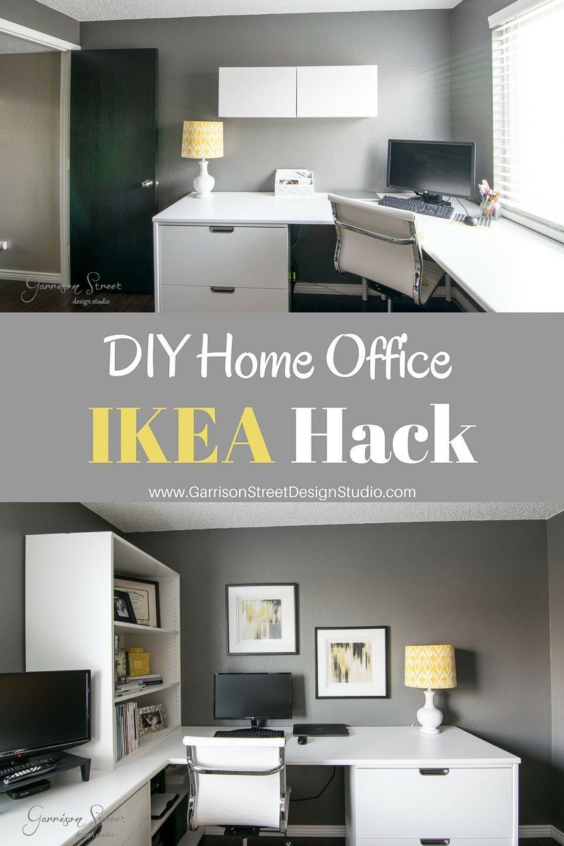 A Real Home Office Garrison Street Design Studio Office Ikea Hack Before And After Office Makeover Home Decor Home Office Before After Design Ikea