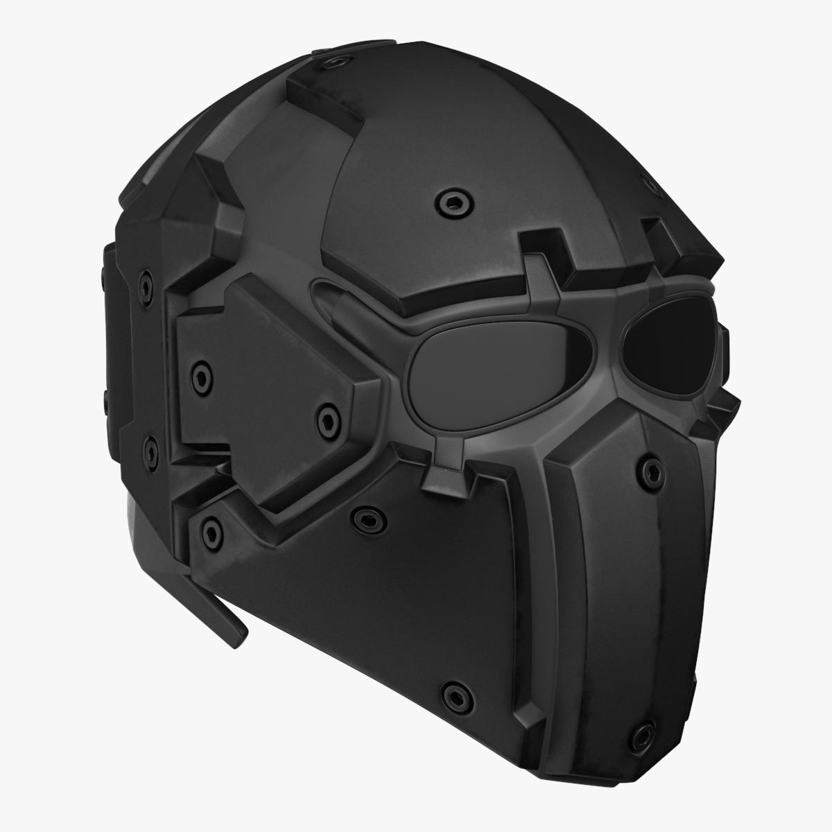 Kevlar Tactical Mask Black 3d Army Armor Military Police Ballistic Combat Head Soldier Glasses War Special Force Pbr Tactical Helmet Ballistic Mask Tactical