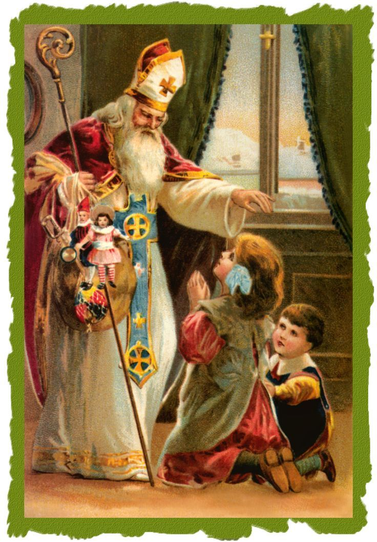 Awestruck Catholic Social Network | Christmas postcard, St nicholas day,  Vintage santas