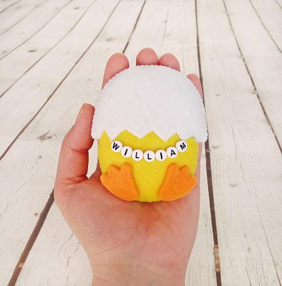 Easter eggs personalized easter chick baby shower favor felt chicken easter eggs personalized easter chick baby shower favor felt chicken lover easter gifts for babies easter home decor farm party decorations farm party negle Images