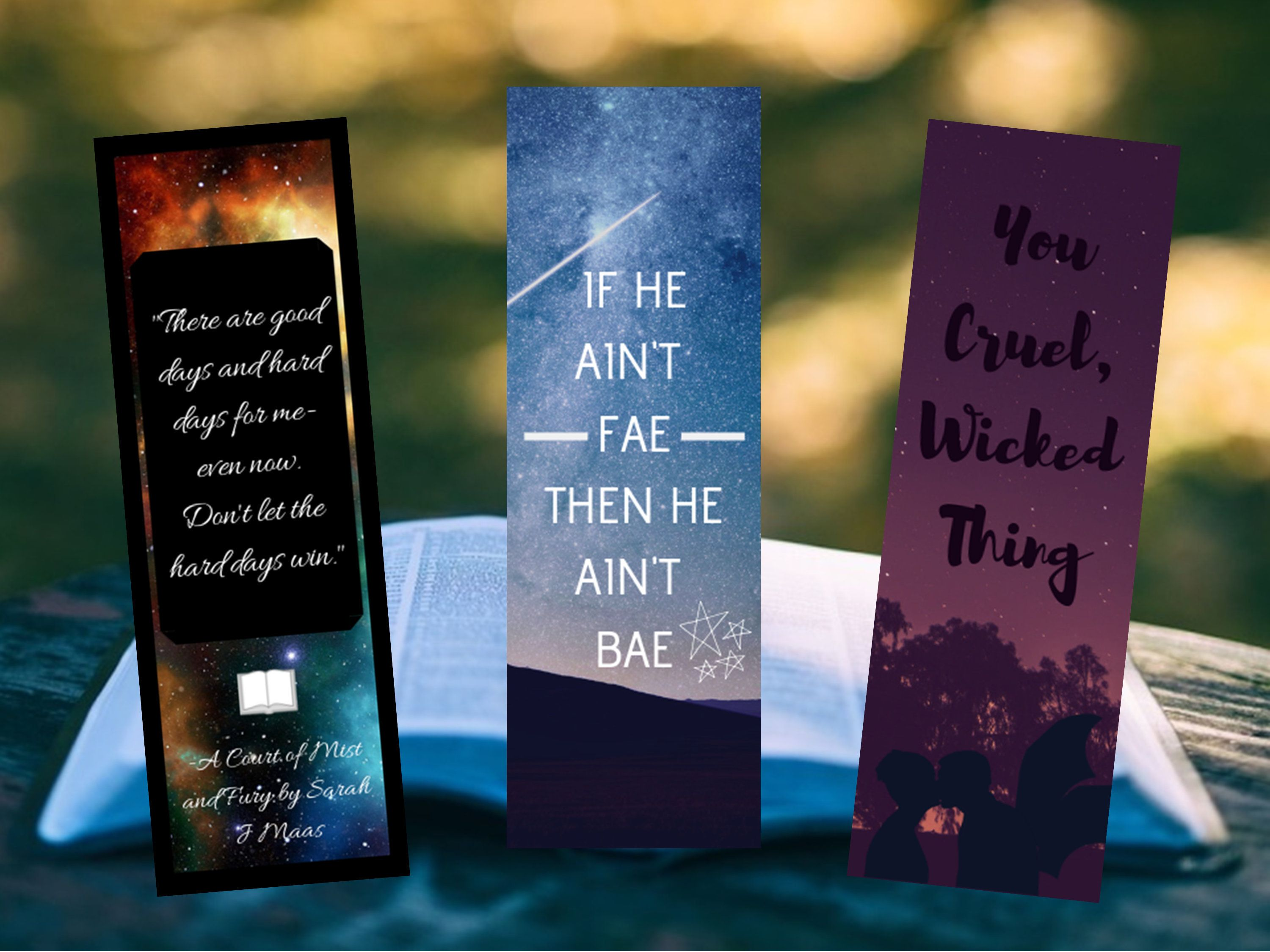Set Of A Court Of Thorns And Roses Series Inspired Printable