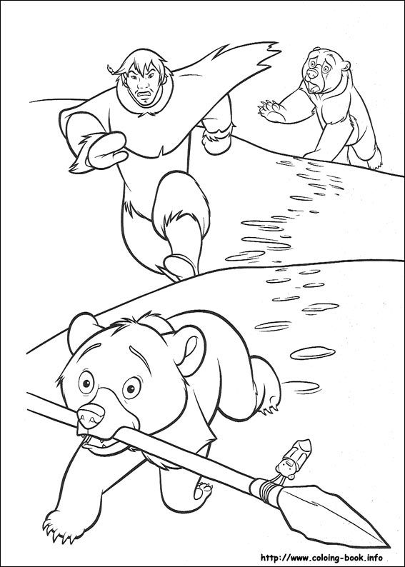 Brother Bear coloring picture | Disney Coloring Pages | Pinterest