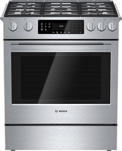 From Pacific Sales 2 249 99 On Sale Bosch 800 Series Model Hd18054u 30 Self Cleaning Slide In Dual Fuel Con Slide In Range Convection Range Range Cooker