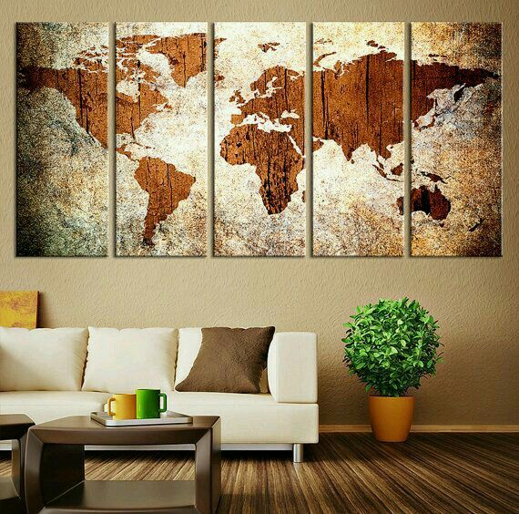 Pin by sara macedo on decores pinterest wall decor and walls canvas art print world map on grunge background large wall art wood world map art extra large world map gumiabroncs Gallery