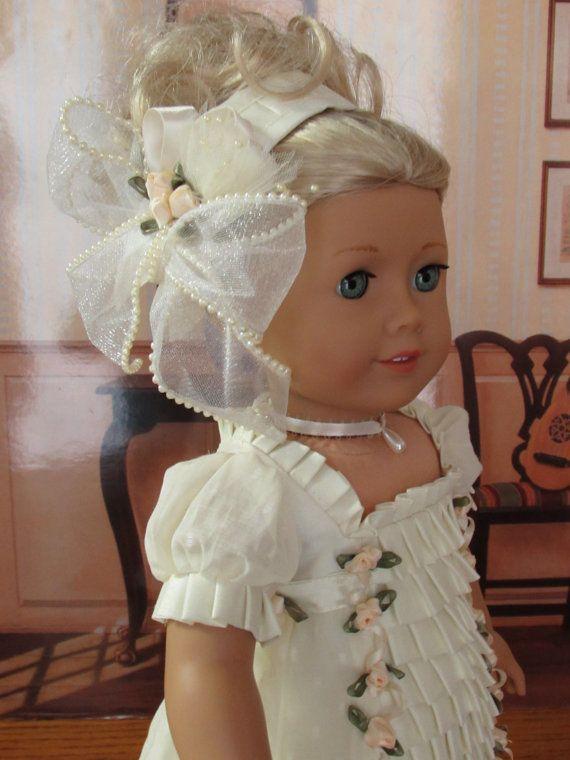 """Evening Elegance for Caroline Abbott 1812 Regency Era American Girl doll 18in"""""""