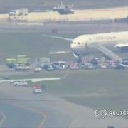 cool Air France jet escorted by U.S.F-15 fighter jets  to JFK because of menace (Video)