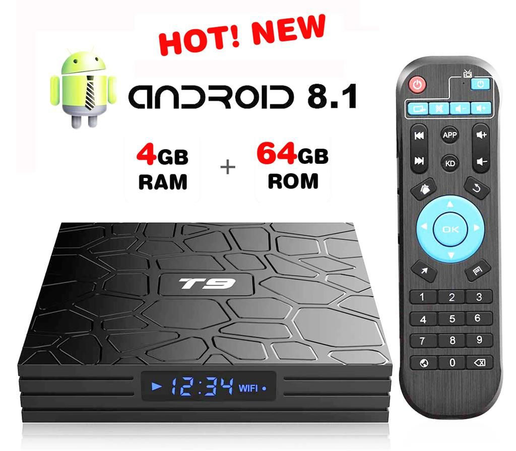T9 Android Smart TV Box Super Fast | Android tv box in 2019