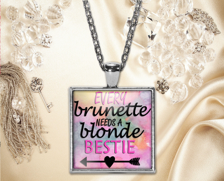Best Friend Pendant Necklace Word Print Birthday Anniversary Wedding Present Keepsake Friendship