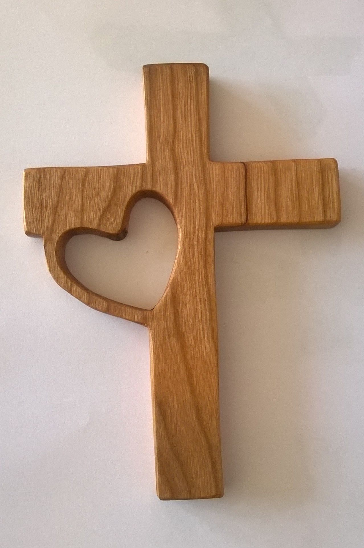 Kruis Met Hart Kersenhout Wood Crafts Diy Wooden Cross Crafts Wood Diy