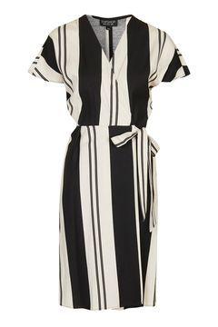Stripe Wrap Dress  72b45a6ef