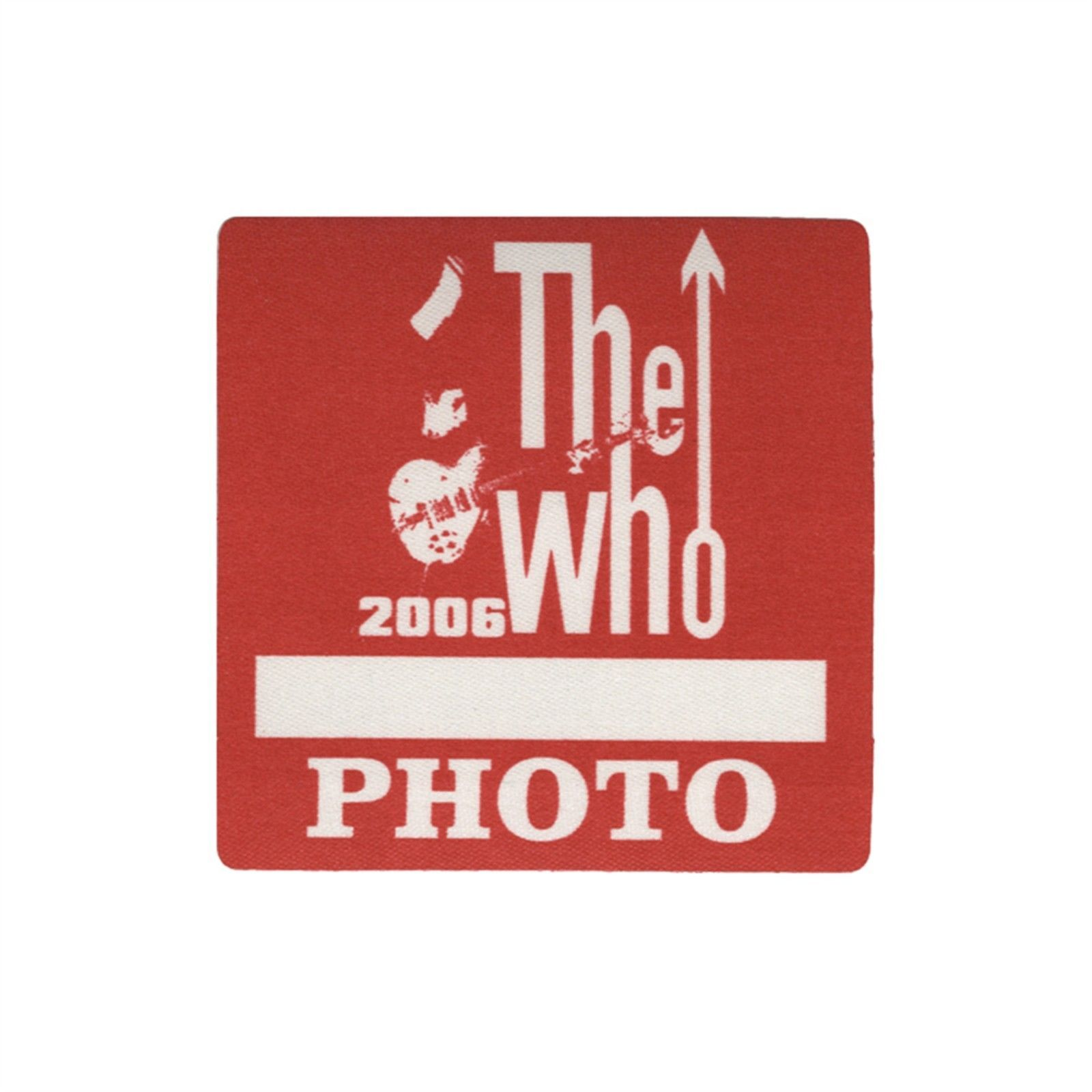 The Who authentic 2006 Endless Wire tour satin cloth Backstage Pass ...