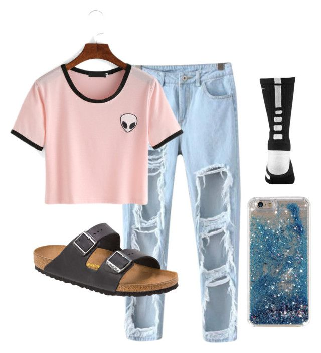 """Untitled #133"" by sydwright17 ❤ liked on Polyvore featuring Chicnova Fashion, Birkenstock and NIKE"