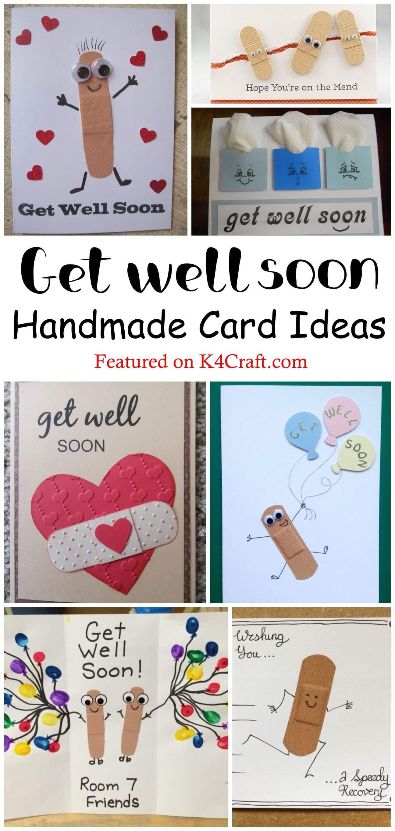 Beautiful diy get well soon card ideas k4 craft in