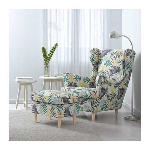 Strandmon wing chair gillhov multicolour wingback chairs for Ohrensessel yellow