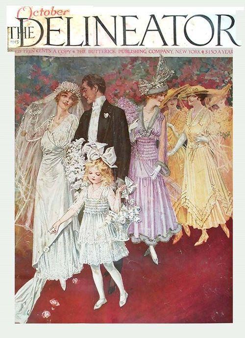 1915 Wedding ~ The Delineator