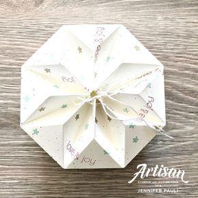 """Origami Box """"Stern"""" mit Anleitung"""