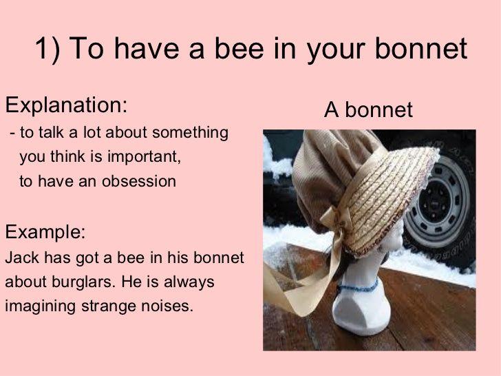 bee in your bonnet origin