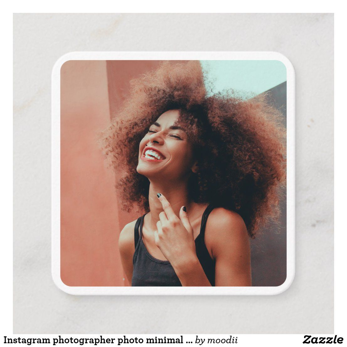 Instagram photographer photo minimal photography calling card | Zazzle.com