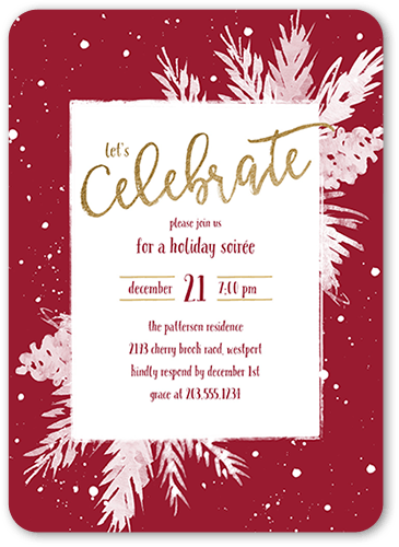 Holiday Party Invitations Holly Celebration Holiday Invitation