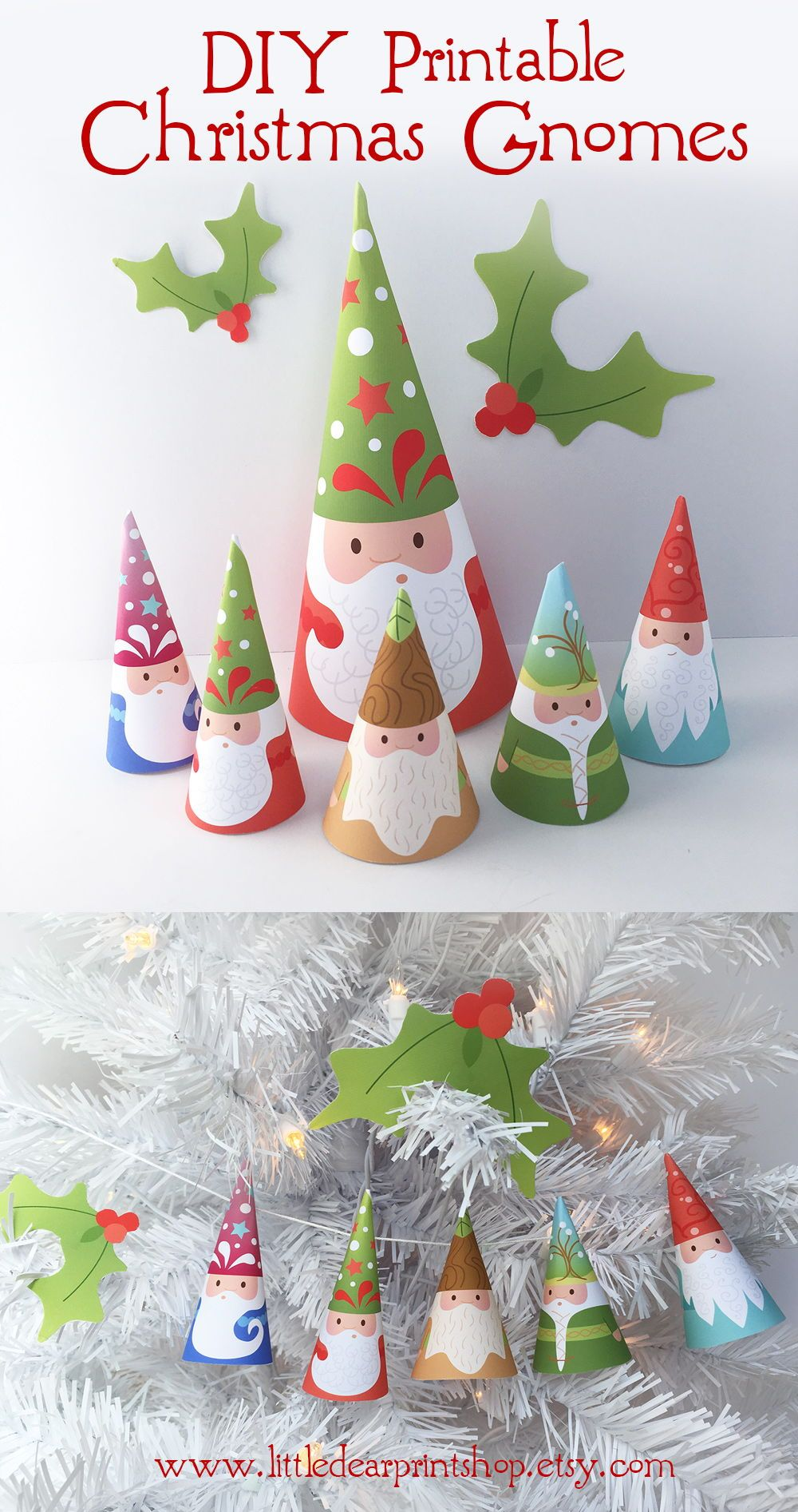 How To Make Your Own Tree Stand Printable Woodland Gnomes Diy Art Santa Claus Garland Christmas