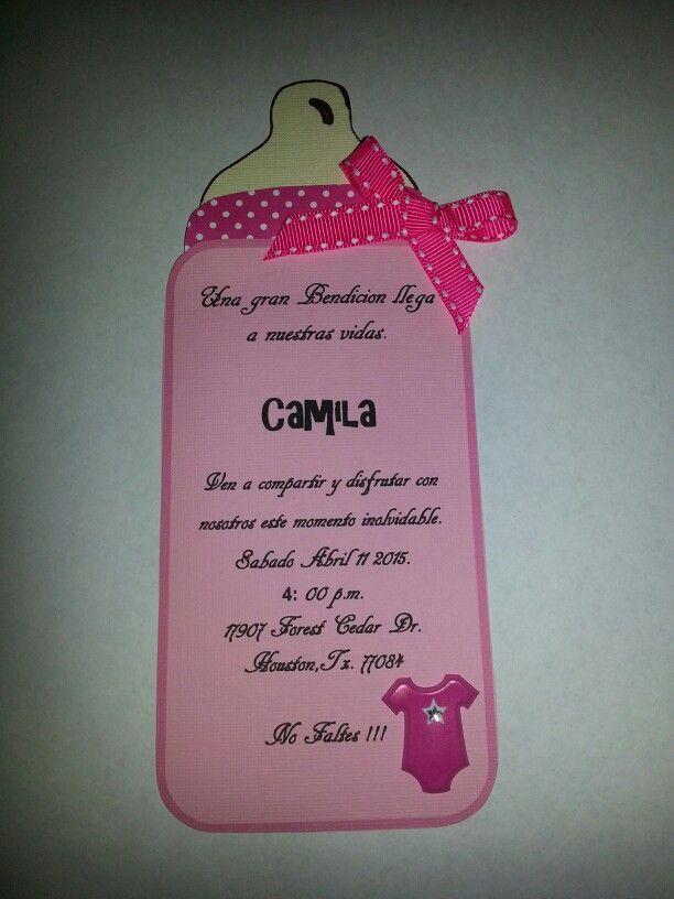 Invitacion sencilla pero bonita para evento de baby shower - Decoracion baby shower nina sencillo ...