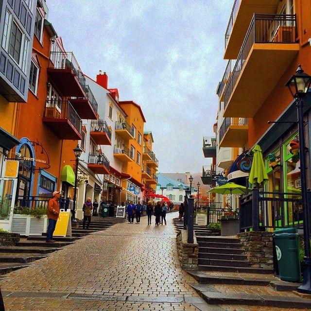 """""""Mont-Tremblant Village, QC #monttremblant #village #street #colourful #quebec"""""""