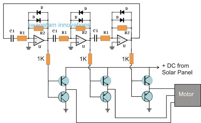 3 Phase Solar Submersible Pump Inverter Circuit Elektronik
