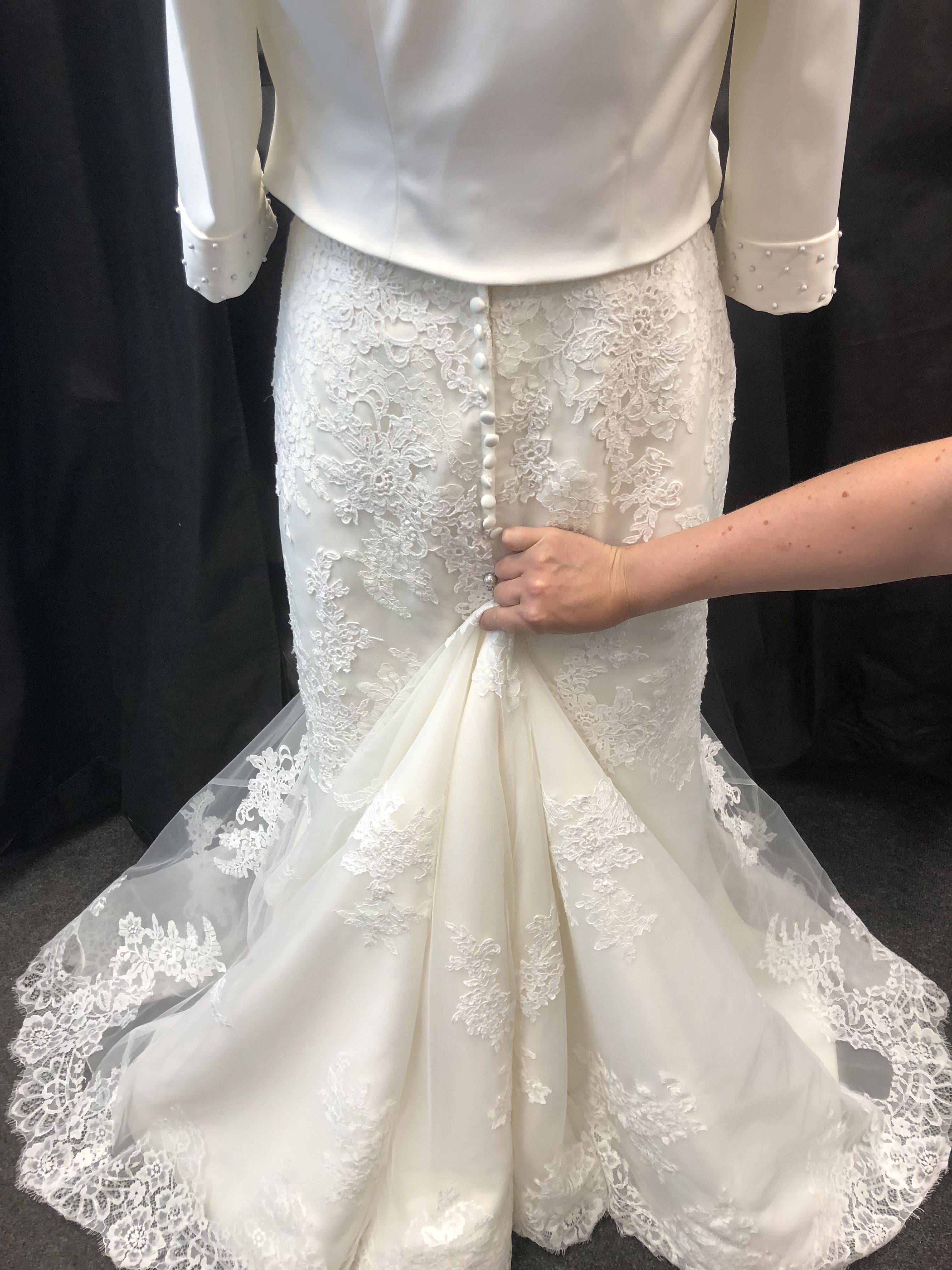 Work Out Where Is Best For Your Trainloop Before You Pin It Onto Your Dress No Worries If It S Not Quite Wedding Dress Train Dress Train Amazing Wedding Dress